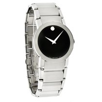 Movado Sapphire Mens Steel Swiss Quartz Watch 0605063