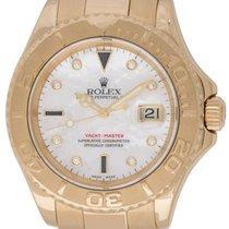 Rolex : Yacht-Master 'Serti' :  16628 :  18k Gold : Mother of...