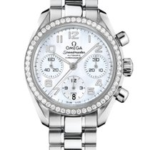Omega 324.15.38.40.05.001 Steel 2019 Speedmaster Ladies Chronograph 38mm new