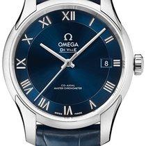 Omega De Ville Hour Vision Steel 41mm Blue Roman numerals United Kingdom, Hemel Hempstead, Hertfordshire
