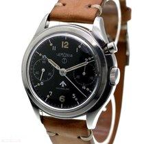 Lemania Vintage Mono-Pusher RAF Military Chronograph Stainless...