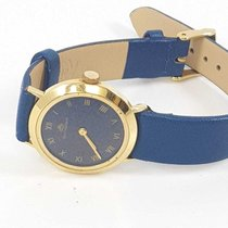 Carl F. Bucherer 18K YG  hand winding w/ navy blue dial & gold...