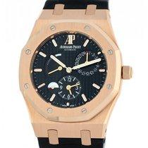 Audemars Piguet Royal Oak Dual Time Rose gold 39mm Black No numerals