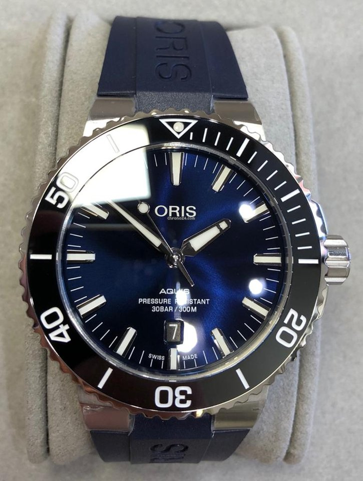 201160bca Oris Aquis Date Divers Blu 43,5mm Ref. 733 7730 4135 for AU$ 2,173 for sale  from a Seller on Chrono24