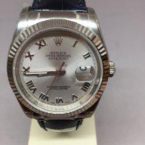 Rolex nuevo Automático Segundero central Agujas luminosas Cronómetro Corona atornillada Estado original/piezas originales 36mm Oro blanco Cristal de zafiro