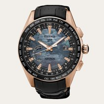 Seiko Astron GPS Solar Chronograph Titan 44.8mm Perlmutt