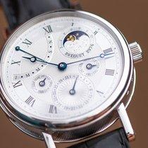 Breguet Platinum Manual winding Silver Roman numerals 40mm new Classique Complications