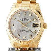 Rolex Datejust President 18k Yellow Gold 31mm Mother Of Pearl...