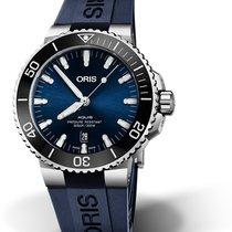 Oris Aquis Date 01 733 7730 4135-07 4 24 65EB Oris DATE Blu Gomma 43,5mm new