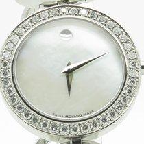 Movado Ono Mother Of Pearl Diamond Ladies On Steel Bracelet...