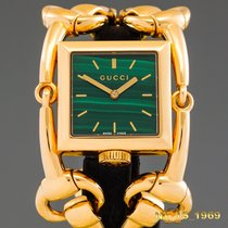 Gucci Gult guld 35mm width  case including  bracaletmm Kvarts 116.3 brugt