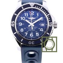 Breitling Superocean II 42 MM Automatic Blue Dial Blue Rubber...