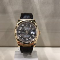 Rolex Datejust Yellow gold 36mm Brown Arabic numerals