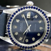 Rolex 1975s Oyster Date Precision Winding Watch Customised Bezel