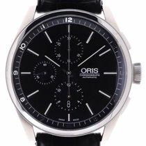 Oris Artix Chronograph pre-owned 44mm Black Chronograph Leather