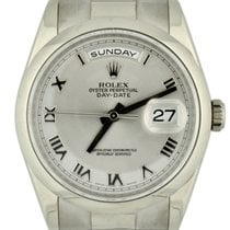 Rolex White gold Automatic Grey 36mm pre-owned Day-Date 36