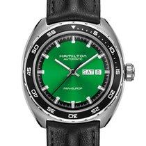 Hamilton Pan Europ Steel 42mm Green