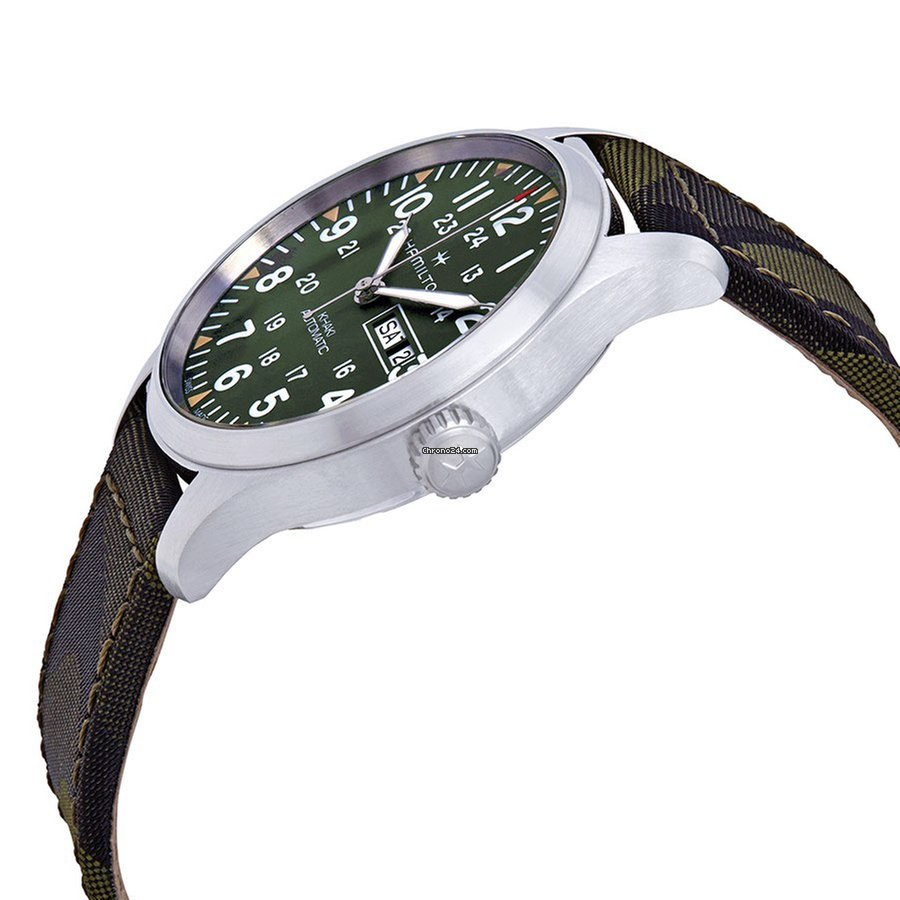 7e5174b31 Hamilton Men's H70535061 Khaki Field Day Date Auto Watch for $692 for sale  from a Trusted Seller on Chrono24
