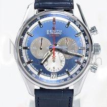 Zenith El Primero 36'000 VpH Acero 42mm Azul