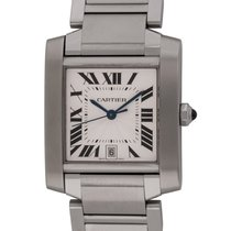 Cartier Tank Française Steel 28mm Silver Roman numerals United States of America, Texas, Austin