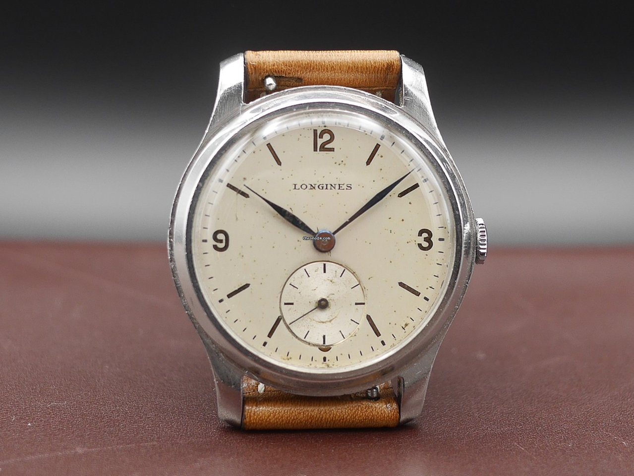 """online store 4fa7f 3d381 Longines unpolished time-only """"Calatrava"""""""