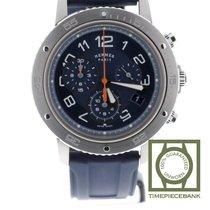 Hermès Clipper Stahl 41mm Blau Arabisch