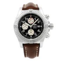 Breitling Steel Automatic Black 47mm pre-owned Super Avenger