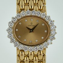 Concord Yellow gold Quartz Champagne No numerals 26.2mm pre-owned