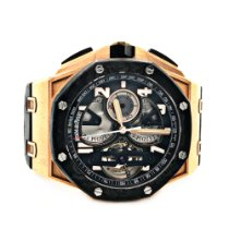 Audemars Piguet Royal Oak Offshore Tourbillon Chronograph Rose gold 44mm Black Arabic numerals