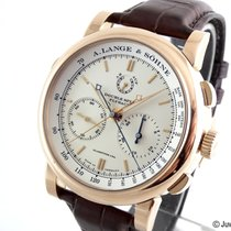 A. Lange & Söhne Double Split Rose gold 43.2mm Silver