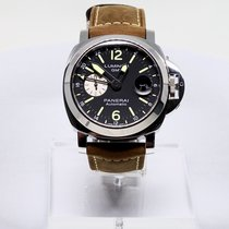 Panerai Luminor GMT Automatic neu 2019 Automatik Uhr mit Original-Box und Original-Papieren PAM01088