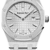 Audemars Piguet White gold Quartz Silver No numerals 33mm new Royal Oak Lady