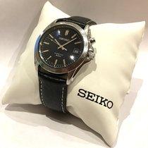 Seiko Kinetic Steel 40mm Blue Arabic numerals