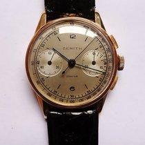 Zenith Chronograaf 35mm Handopwind 1954 tweedehands Goud