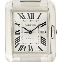Cartier Tank Anglaise Steel 40mm Silver Roman numerals