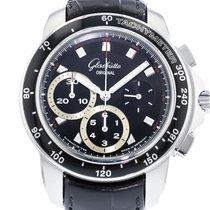 Glashütte Original Sport Evolution Chronograph Stahl 42mm Schwarz