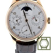 IWC Portuguese Perpetual Calendar Roodgoud 44.2mm Wit Arabisch