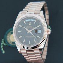 Rolex Day-Date Everose Choco Dial 228235 NEW