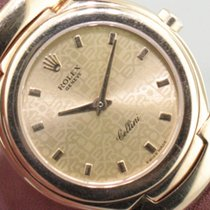 Rolex Cellini pre-owned 26mm Gold Crocodile skin