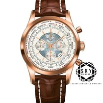 Breitling Transocean Chronograph Unitime Rose gold 46mm White No numerals United States of America, New York, NEW YORK