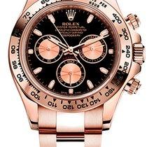 Rolex Daytona Růžové zlato 40mm Černá Bez čísel