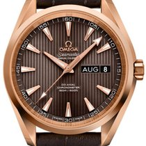 Omega Rose gold Automatic Grey 38.5mm new Seamaster Aqua Terra