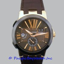 Ulysse Nardin Rose gold Automatic Roman numerals 43mm new Executive Dual Time