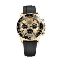 勞力士 (Rolex) 116518LN-OYSTERFLEX CHAMPAGNE/BLA Yellow Gold
