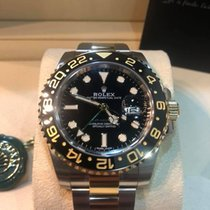 Rolex 116713LN GMT Master II GOLD STEEL Ceramic Bezel [NEW]