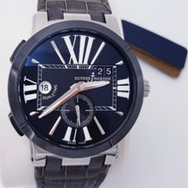 Ulysse Nardin 43mm Automatic new Executive Dual Time Black