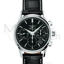 Longines 40mm Automatic new Column-Wheel Chronograph Black