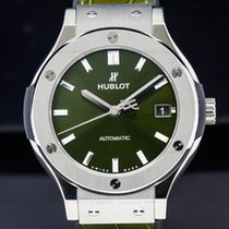 Hublot 511.NX.8970.LR Classic Fusion Titanium Green Dial 38MM...