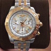 브라이틀링Chronomat,새 시계/미 사용,정품 박스 있음, 서류 원본 있음,금/스틸