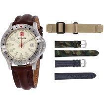Wenger Beige Dial Leather Strap Men's Watch 79301w